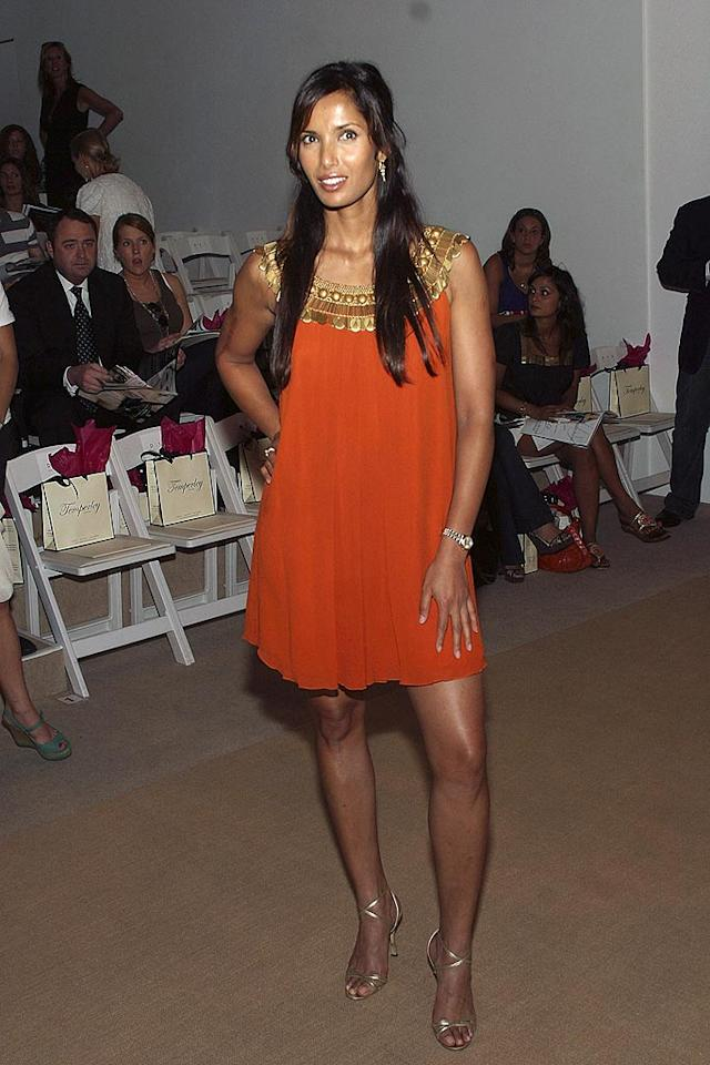 """""""Top Chef"""" hostess with the mostest Padma Lakshmi steals the spotlight in a burnt orange mini dress. Mychal Watts/<a href=""""http://www.wireimage.com"""" target=""""new"""">WireImage.com</a> - September 8, 2007"""