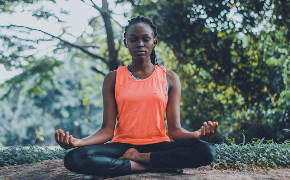 """<span class=""""caption"""">Mindfulness refers to a mental state of focusing on the present moment.</span> <span class=""""attribution""""><span class=""""source"""">(Pexels/Oluremi Adebayo)</span></span>"""