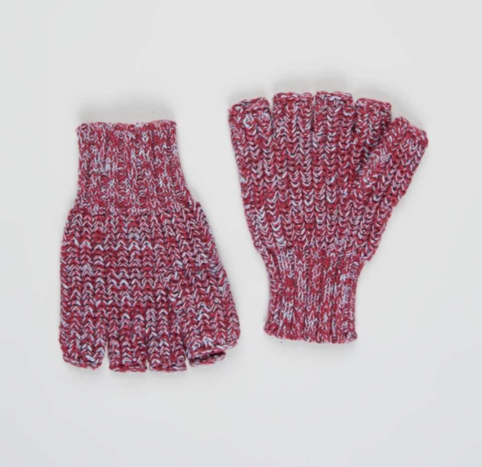 Rib Knitted Fingerless Mittens Kip and Co