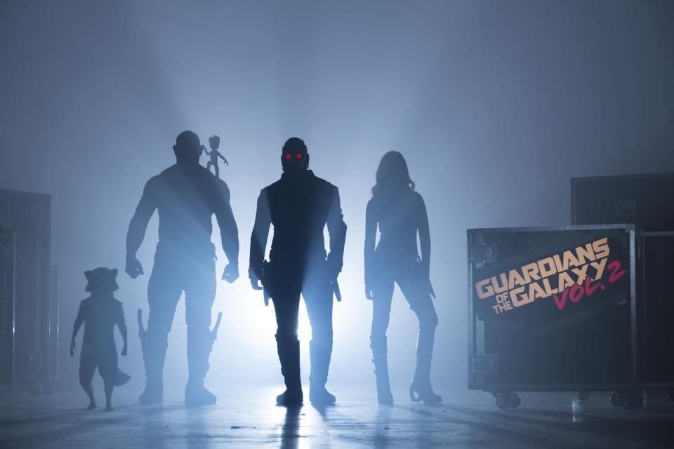 <p>Marvel released this image, of the gang back together, at the start of production in 2016. (Photo: Marvel) </p>