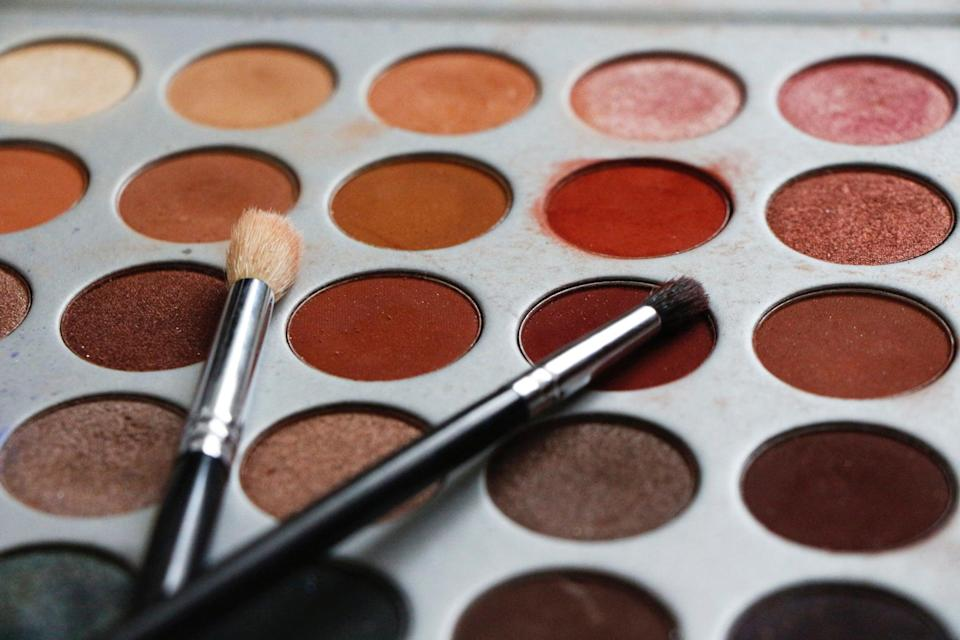 <p>Don't limit yourself to just body paint. There is so much you can create with a makeup palette, too. If you're still having a hard time mixing paints, try out eyeshadows after you apply your base. It sets the paint in place and adds depth depending on what shade of paint you use. If you want to use shadow, apply a darker version of the paint color underneath, followed by some black eyeshadow. For lighting, add a lighter shadow of the colored paint, followed by either white eyeshadow or white paint blended in with your fingers.</p>