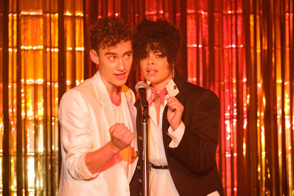 The stars of It's a Sin - Olly Alexander, left, and Lydia WestChannel 4