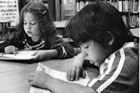 """<p>Students participate in a school Read-a-Thon to raise money for people living with Multiple Sclerosis.</p><p><strong>RELATED:</strong> <a href=""""https://www.goodhousekeeping.com/life/entertainment/g3273/best-childrens-books/"""" rel=""""nofollow noopener"""" target=""""_blank"""" data-ylk=""""slk:40 Children's Books That Belong in Every Family Library"""" class=""""link rapid-noclick-resp"""">40 Children's Books That Belong in Every Family Library</a></p>"""