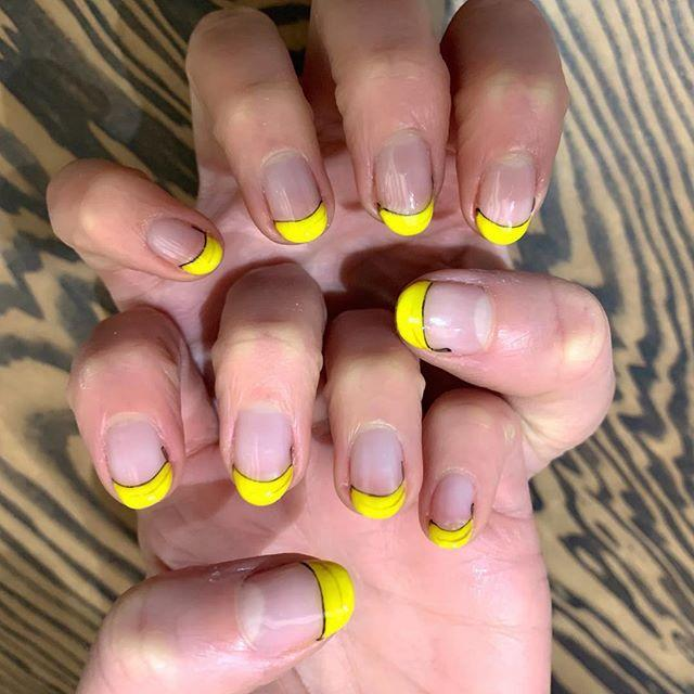 "<p>By Chloe founder Samantha Haber requested a banana-inspired, neon yellow French manicure from Kawajiri.</p><p><a href=""https://www.instagram.com/p/Bw0bn5YBDja/"">See the original post on Instagram</a></p>"