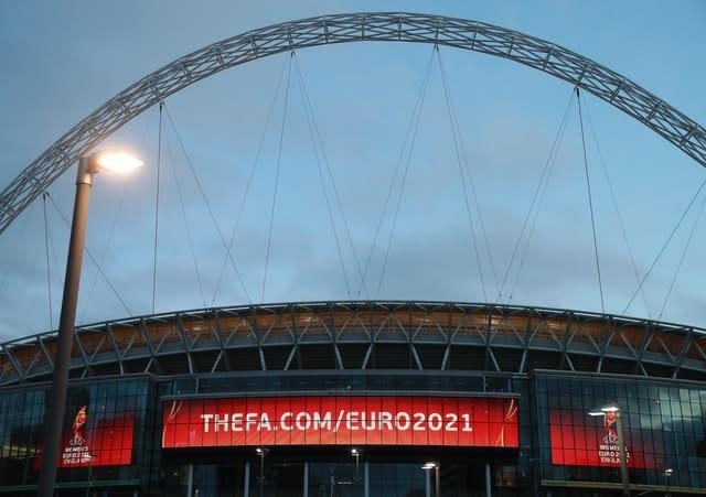 England are due to play their Euro 2020 group games at Wembley (Adam Davy/PA)