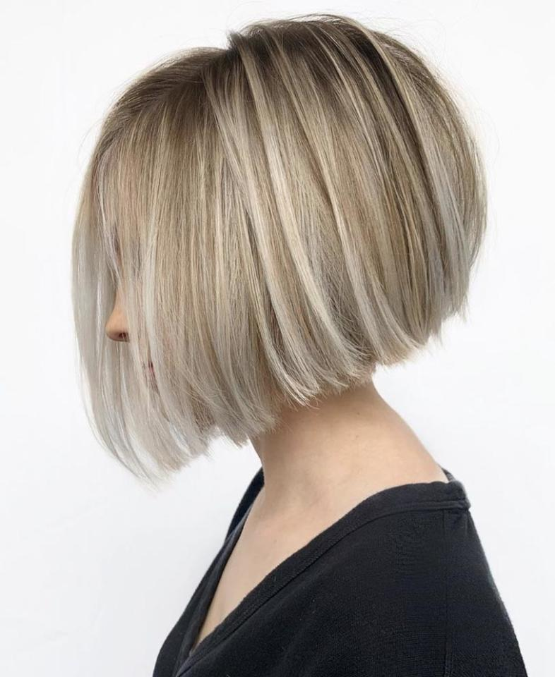 <p>If you're looking to pump up the volume, a stacked bob will do the trick. Layering the backside shorter than the front ensures that you've got extra height and body.</p>
