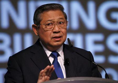 Former Indonesian president Susilo Bambang Yudhoyono delivers a speech during the Development Bank of Singapore (DBS) Asian Insights Conference in Singapore July 10, 2015. REUTERS/Edgar Su/Files