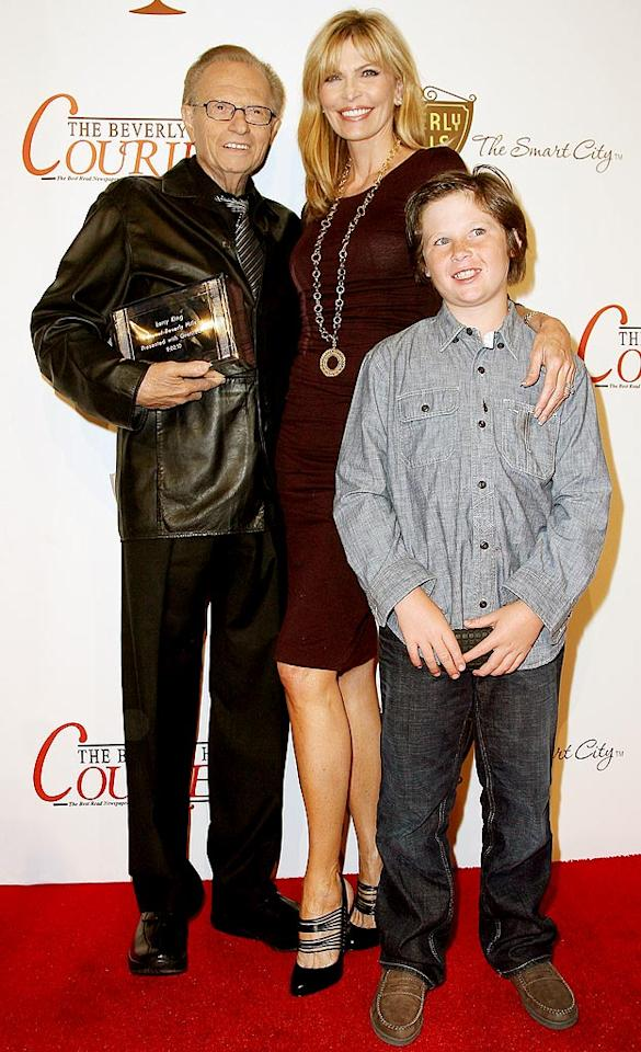 """Reunited couple Larry King and Shawn Southwick brought their son Chance to the posh festival, where the talk show host also collected his very own key to Beverly Hills. Valerie Macon/<a href=""""http://www.gettyimages.com/"""" target=""""new"""">GettyImages.com</a> - September 2, 2010"""
