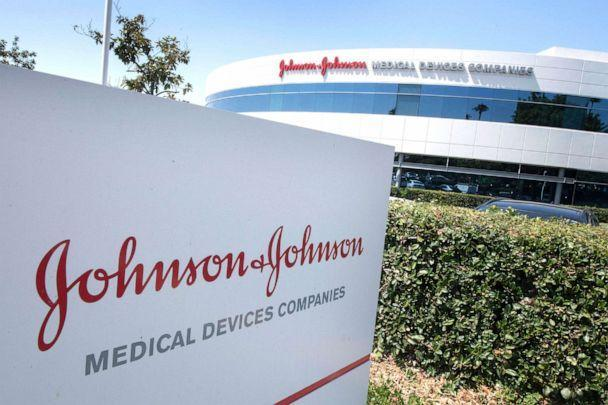 PHOTO: The entry sign to the Johnson & Johnson campus shows their logo in Irvine, Calif., August 28, 2019.  (Mark Ralston/AFP via Getty Images, FILE)