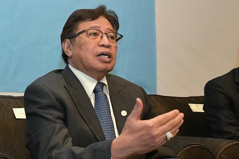 Abang Johari said the state and the island nation have some common interests that they can work on together to enhance the relationship. — Bernama pic