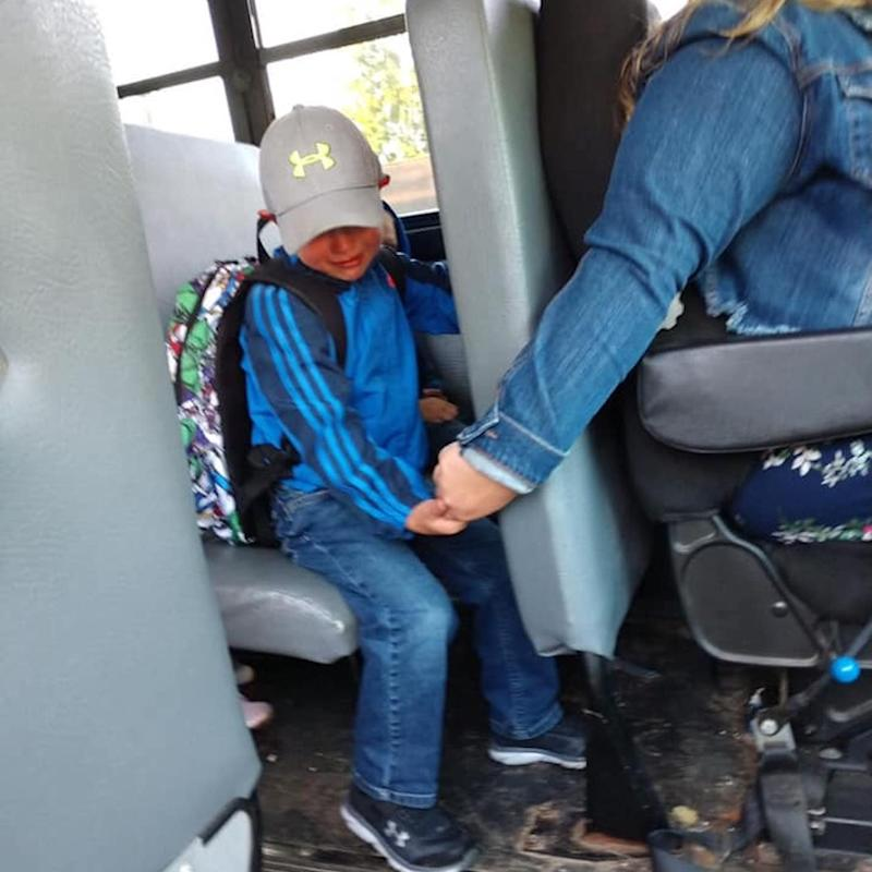 A 4-Year-Old Was Nervous About His First Day of School, So His Bus Driver Held His Hand