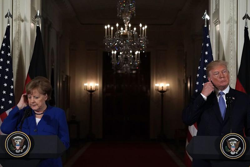Who Do You Trust in a Pandemic: Donald Trump or Angela Merkel?
