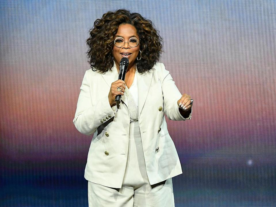 Oprah Winfrey gives a talk on 22 February 2020 in San Francisco, California (Steve Jennings/Getty Images)
