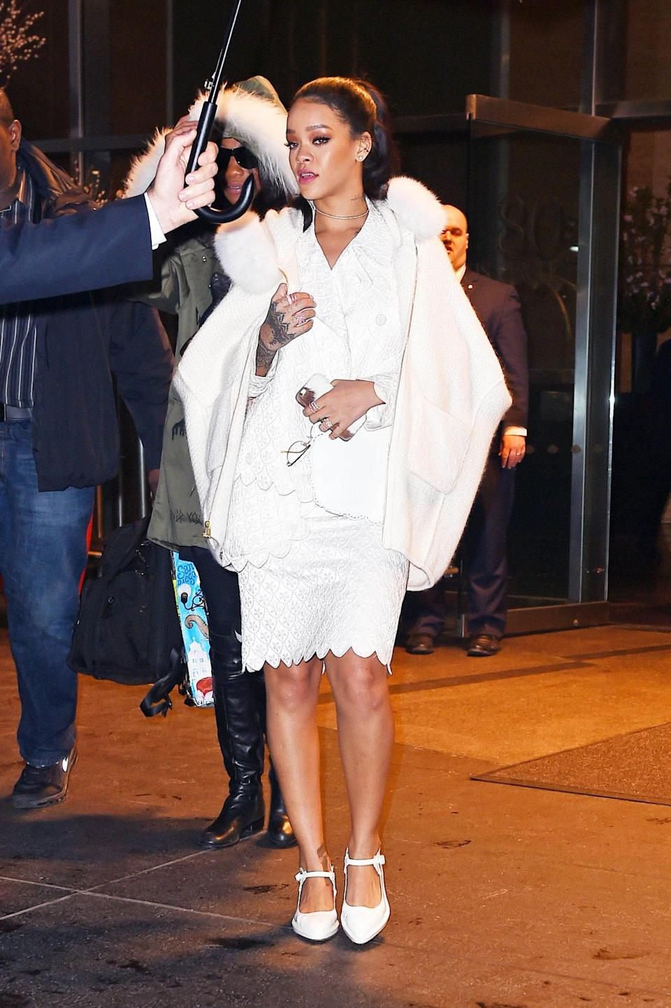 <p>Pumas new brand ambassador was seen early this year in a pair of white mary janes from the London-based designer. Photo: Getty Images</p>