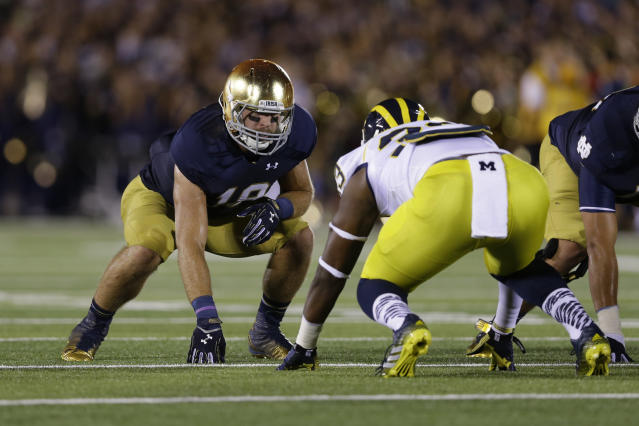 Notre Dame and Michigan haven't played since Sept. 6, 2014. (AP Photo/Michael Conroy)