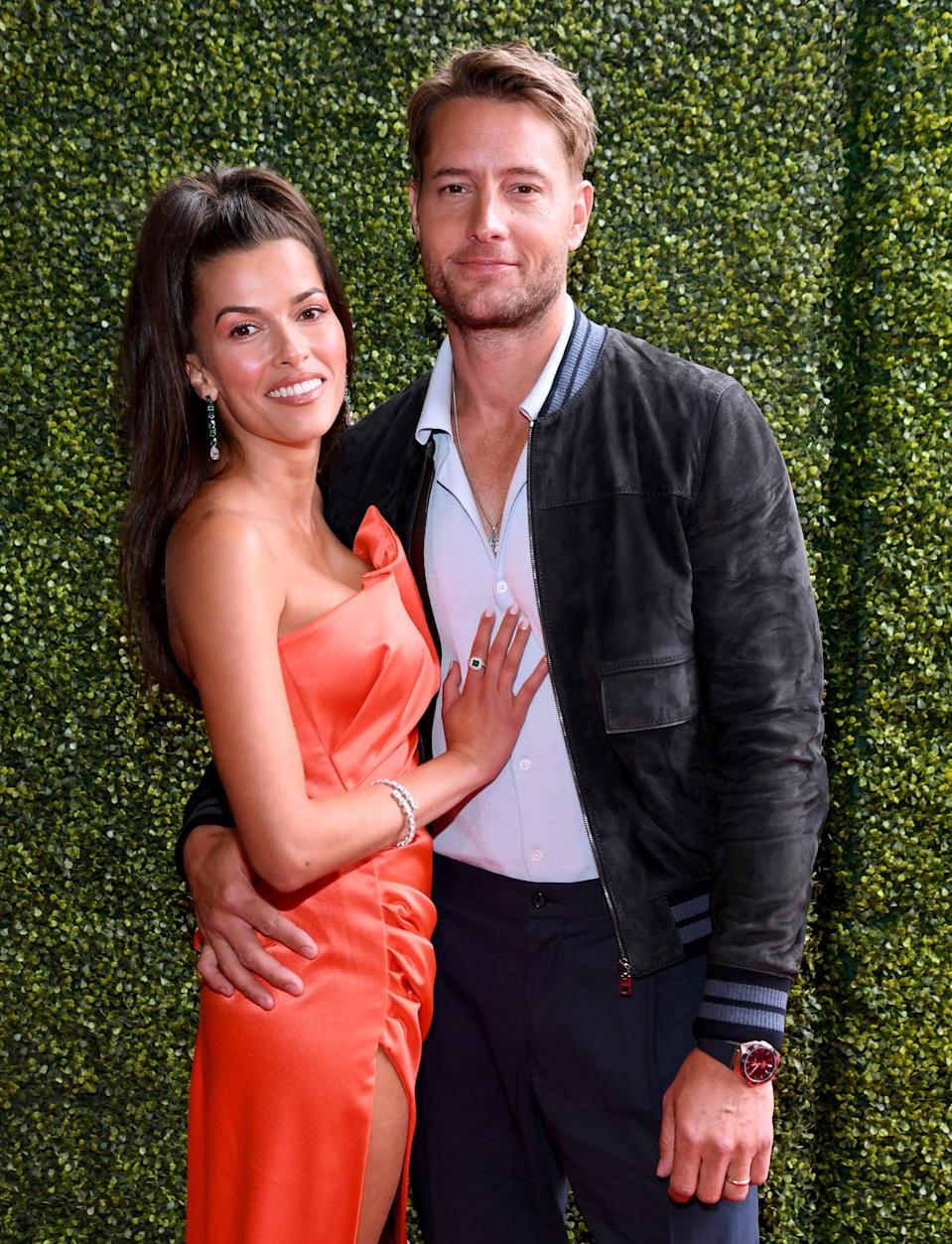 """<p>After <a href=""""https://www.popsugar.com/celebrity/who-is-justin-hartley-dating-47518015"""" class=""""link rapid-noclick-resp"""" rel=""""nofollow noopener"""" target=""""_blank"""" data-ylk=""""slk:a year of dating"""">a year of dating</a>, news broke in May that <a href=""""https://www.popsugar.com/celebrity/justin-hartley-and-sofia-pernas-married-48327681"""" class=""""link rapid-noclick-resp"""" rel=""""nofollow noopener"""" target=""""_blank"""" data-ylk=""""slk:the two got married"""">the two got married</a>. That same month, Sofia and Justin also made <a href=""""https://www.popsugar.com/celebrity/justin-hartley-sofia-pernas-mtv-movie-tv-awards-2021-48325874"""" class=""""link rapid-noclick-resp"""" rel=""""nofollow noopener"""" target=""""_blank"""" data-ylk=""""slk:their red carpet debut as a couple"""">their red carpet debut as a couple</a> at the MTV Movie &amp; TV Awards.</p>"""