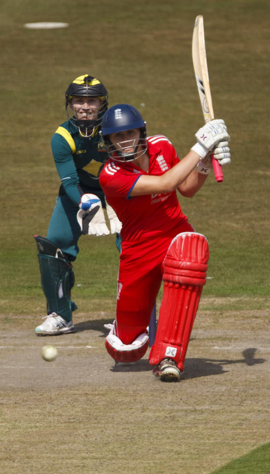 England's Natalie Sciver in action during the One Day International at The County Ground, Hove.