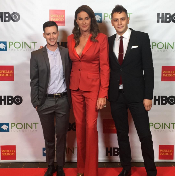 <p>To present the producers of the ABC Family docuseries <i>Becoming Us</i> and Rhys Amazon's <i>Transparent </i>with an award, Caitlyn Jenner wore her best power suit and channeled Jennifer Aniston's Gucci suit moment earlier this year. </p><p><b><br></b></p>