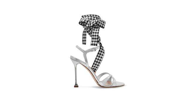 "<p>Canvas-trimmed metallic leather sandals, $750, <a href=""https://www.net-a-porter.com/us/en/product/861383/miu_miu/canvas-trimmed-metallic-leather-sandals"" rel=""nofollow noopener"" target=""_blank"" data-ylk=""slk:net-a-porter.com"" class=""link rapid-noclick-resp"">net-a-porter.com</a> </p>"