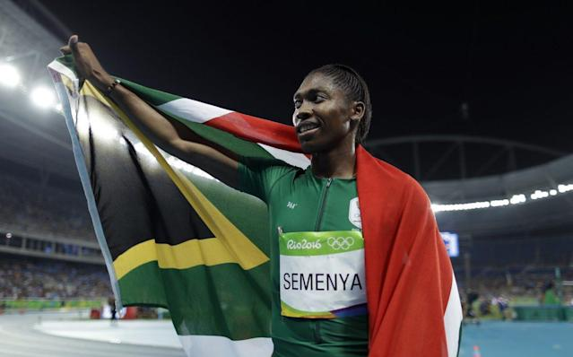 After Caster Semenya won the gold medal in the women's 800-meter race, she used the platform to espouse something truly in the Olympic spirit. (Getty)