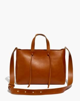 Madewell Elsewhere Tie Leather Crossbody Tote