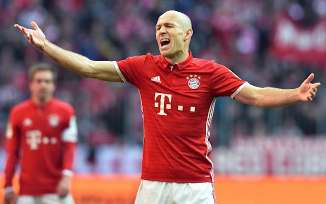 <span>Arjen Robben has shown once again he is no shrinking violet</span> <span>Credit: CHRISTOF STACHE/AFP/Getty </span>