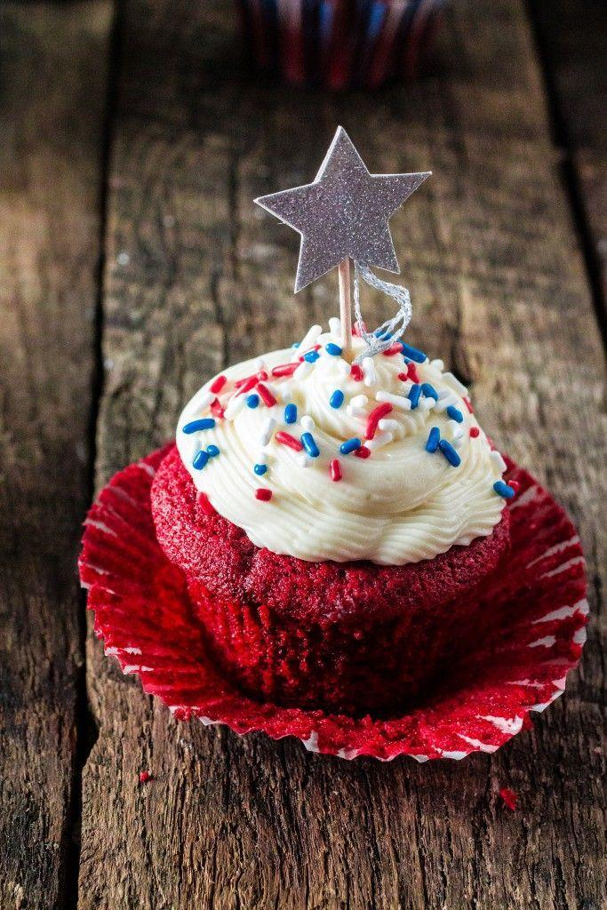 "<p>Red velvet is the most patriotic of all cakes, of course — especially when it's topped with a sparkly star topper.</p><p><a href=""http://www.oliviascuisine.com/patriotic-red-velvet-cupcakes/"" rel=""nofollow noopener"" target=""_blank"" data-ylk=""slk:Get the recipe from Olivia's Cuisine »"" class=""link rapid-noclick-resp""><em>Get the recipe from Olivia's Cuisine »</em></a></p>"