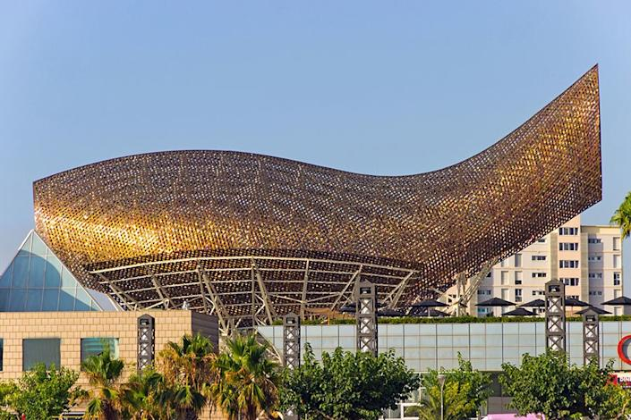 The Olympic Fish Pavilion in Barcelona.