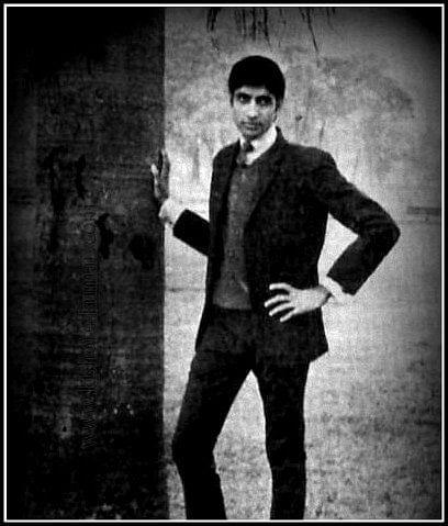 This was the photo that Amitabh Bachchan submitted for the Filmfare Madhuri Talent Contest, he was rejected.