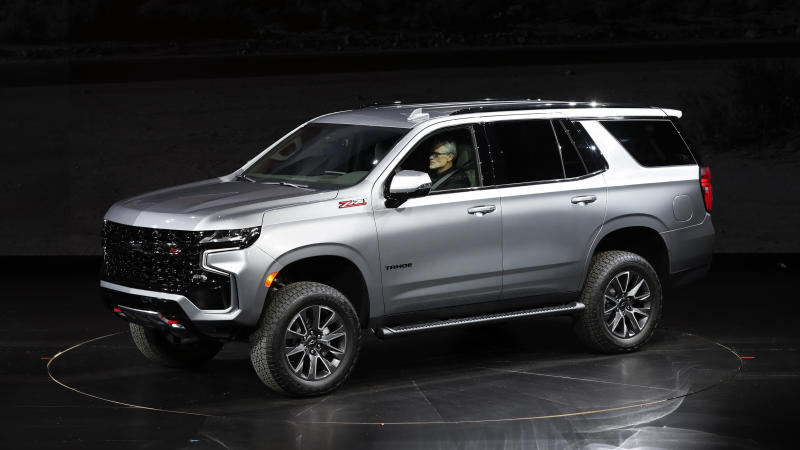 The 2021 Chevrolet Tahoe Z71 is unveiled in Detroit, Tuesday, Dec. 10, 2019. (AP Photo/Paul Sancya)