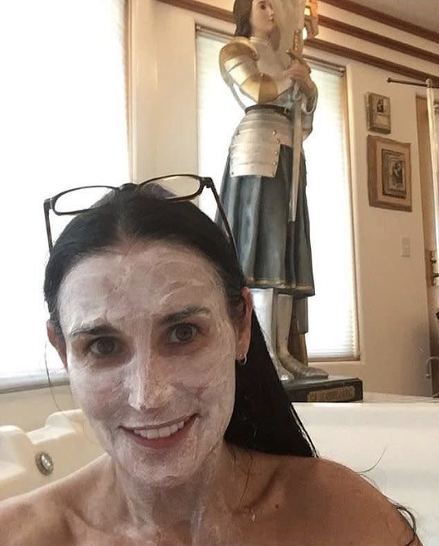Demi Moore in bath with Joan of Arc