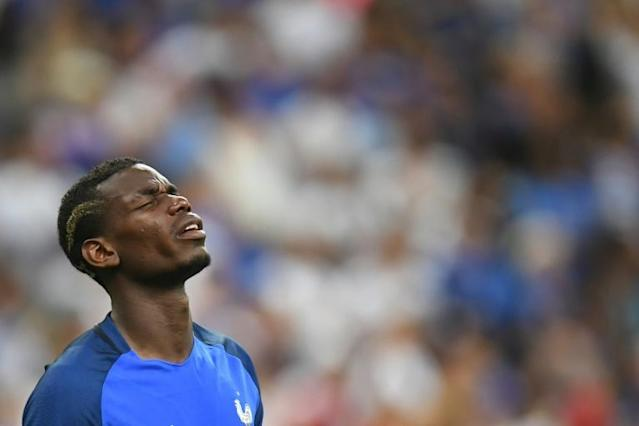 Juventus star Paul Pogba squandered an opportunity to confirm his status as the game's pre-eminent midfield player, conspicuously failing to stamp his name on the tournament (AFP Photo/Patrik Stollarz )
