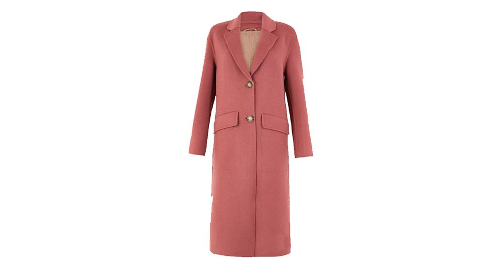Wool Blend Double Faced Coat