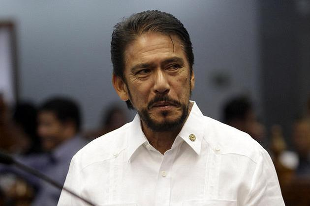 Senate Majority Floor Leader Senator Vicenter Sotto III is seen at the plenary hall of the Senate in Pasay City, south of Manila, 10 September 2012.