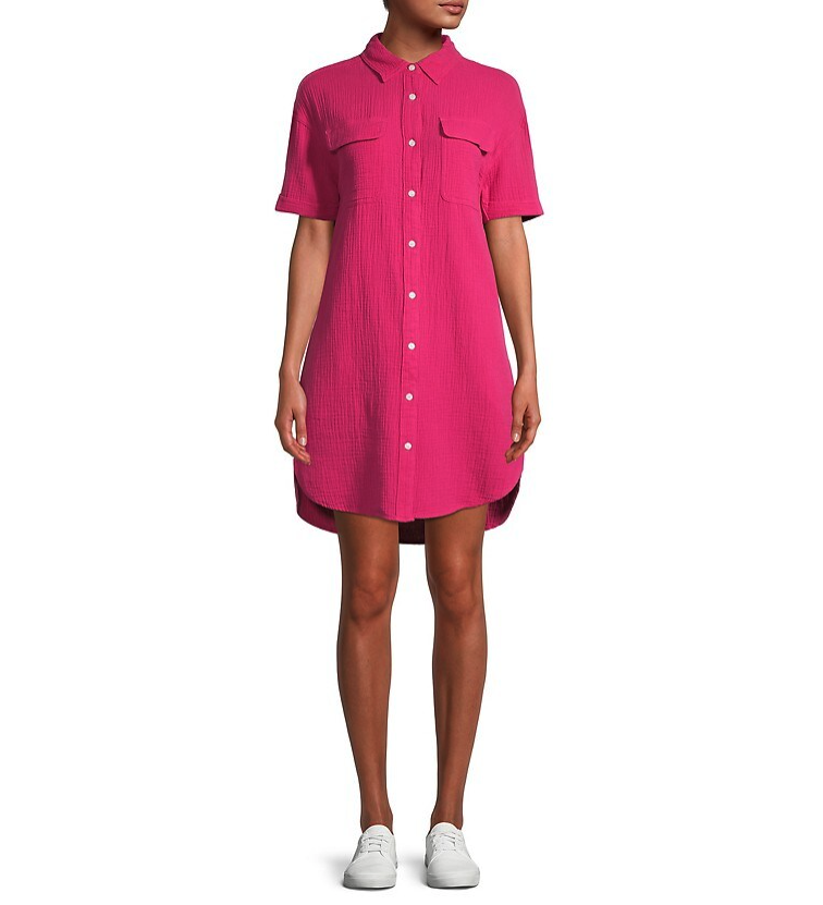Core Life Button-Front Shirt Dress. Image via Hudson's Bay.