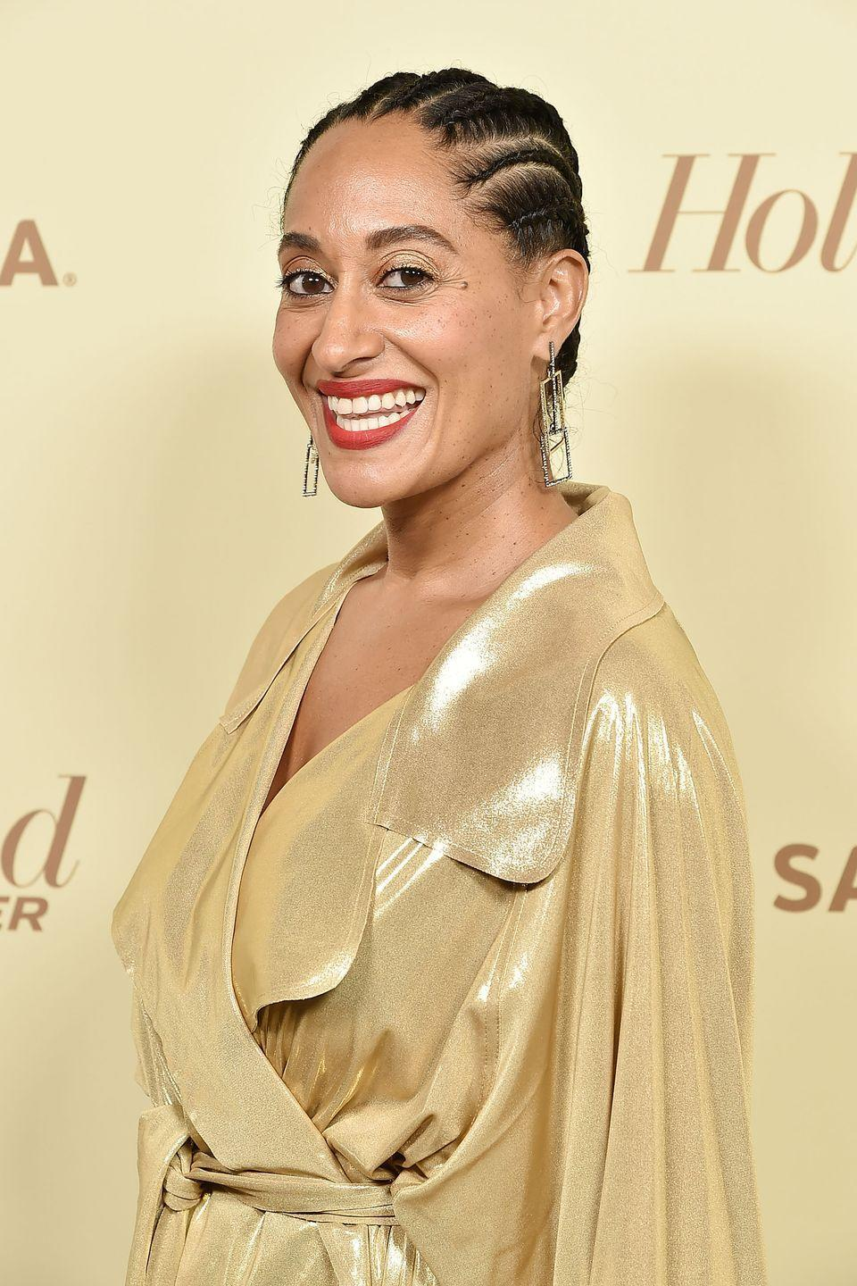 """<p>Short looks can be super versatile: Actress <strong>Tracee Ellis Ross</strong> knows a thing or two about easy, protective styles. Keep your <a href=""""https://www.goodhousekeeping.com/beauty/hair/g24751216/black-braided-hairstyles/"""" rel=""""nofollow noopener"""" target=""""_blank"""" data-ylk=""""slk:braided bun"""" class=""""link rapid-noclick-resp"""">braided bun</a> sleek and edges laid without the mess by using an edge control product like her own <u><a href=""""https://go.redirectingat.com?id=74968X1596630&url=https%3A%2F%2Fwww.ulta.com%2Fedge-control%3FproductId%3Dpimprod2016665&sref=https%3A%2F%2Fwww.goodhousekeeping.com%2Fbeauty%2Fhair%2Fg2471%2Fshort-black-hairstyles-ideas%2F"""" rel=""""nofollow noopener"""" target=""""_blank"""" data-ylk=""""slk:Pattern Edge Control"""" class=""""link rapid-noclick-resp"""">Pattern Edge Control</a>.</u></p><p><a class=""""link rapid-noclick-resp"""" href=""""https://go.redirectingat.com?id=74968X1596630&url=https%3A%2F%2Fwww.ulta.com%2Fedge-control%3FproductId%3Dpimprod2016665&sref=https%3A%2F%2Fwww.goodhousekeeping.com%2Fbeauty%2Fhair%2Fg2471%2Fshort-black-hairstyles-ideas%2F"""" rel=""""nofollow noopener"""" target=""""_blank"""" data-ylk=""""slk:SHOP EDGE CONTROL"""">SHOP EDGE CONTROL</a></p>"""