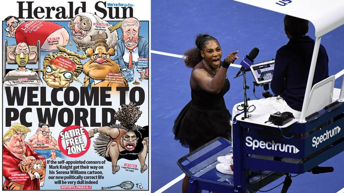 Australian cartoonist criticized over 'racist' Serena Williams sketch