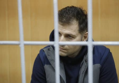 Magomed Magomedov, a business partner and brother of co-owner of Russia's Summa group Ziyavudin Magomedov, attends a hearing on his detention at the Tverskoy District Court in Moscow, Russia March 31, 2018. REUTERS/Tatyana Makeyeva