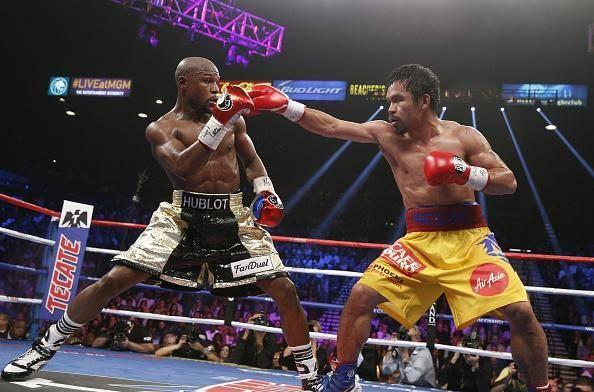 Mayweather defeated Pacquiao by unanimous decision when they fought in 2015 (Getty)