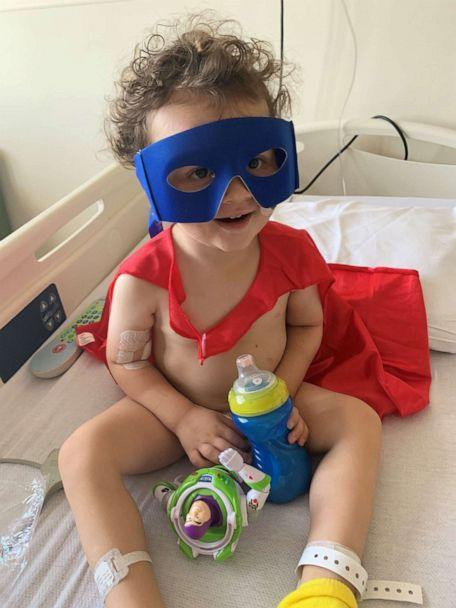 PHOTO: Adrian James, 2, of Mt. Vernon, Illinois, spent five days on a ventilator while battling COVID-19. (Courtesy Tiffany James)