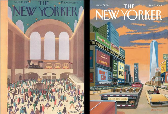 New Yorker Covers That Span Almost A Century Left 1927 Right 2015
