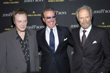 Christopher Walken, Angelo Galasso and Clint Eastwood attend the premiere of Jersey Boys in New York