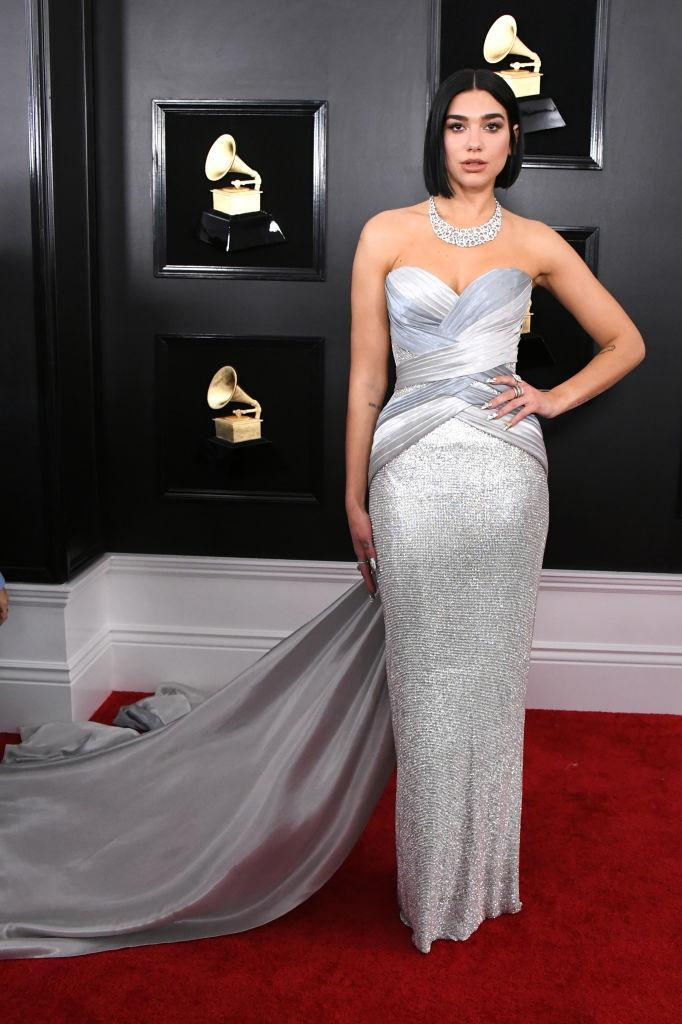 <p>Dua Lipa attends the 61st annual Grammy Awards at Staples Center on Feb. 10, 2019, in Los Angeles. </p>