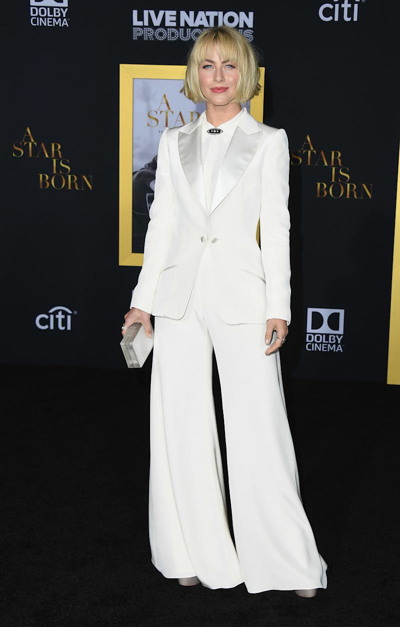 LOS ANGELES, CA - SEPTEMBER 24:  Julianne Hough attends the premiere of Warner Bros. Pictures' 'A Star Is Born' at The Shrine Auditorium on September 24, 2018 in Los Angeles, California.  (Photo by Jon Kopaloff/FilmMagic,)