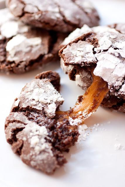 salted caramel stuffed chocolate crinkle cookies salted caramel ...