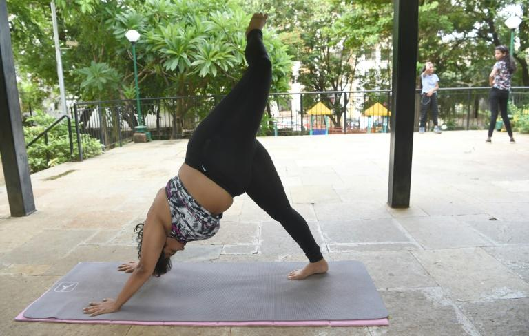 Dolly Singh has gained something of a fan following online for promoting body positivity by showing that size is no barrier to mastering complex yoga moves