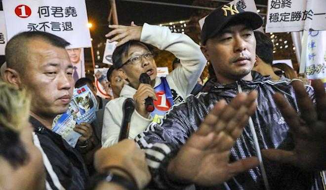 Junius Ho appears during the district council election in Tuen Mun. Photo: K.Y. Cheng