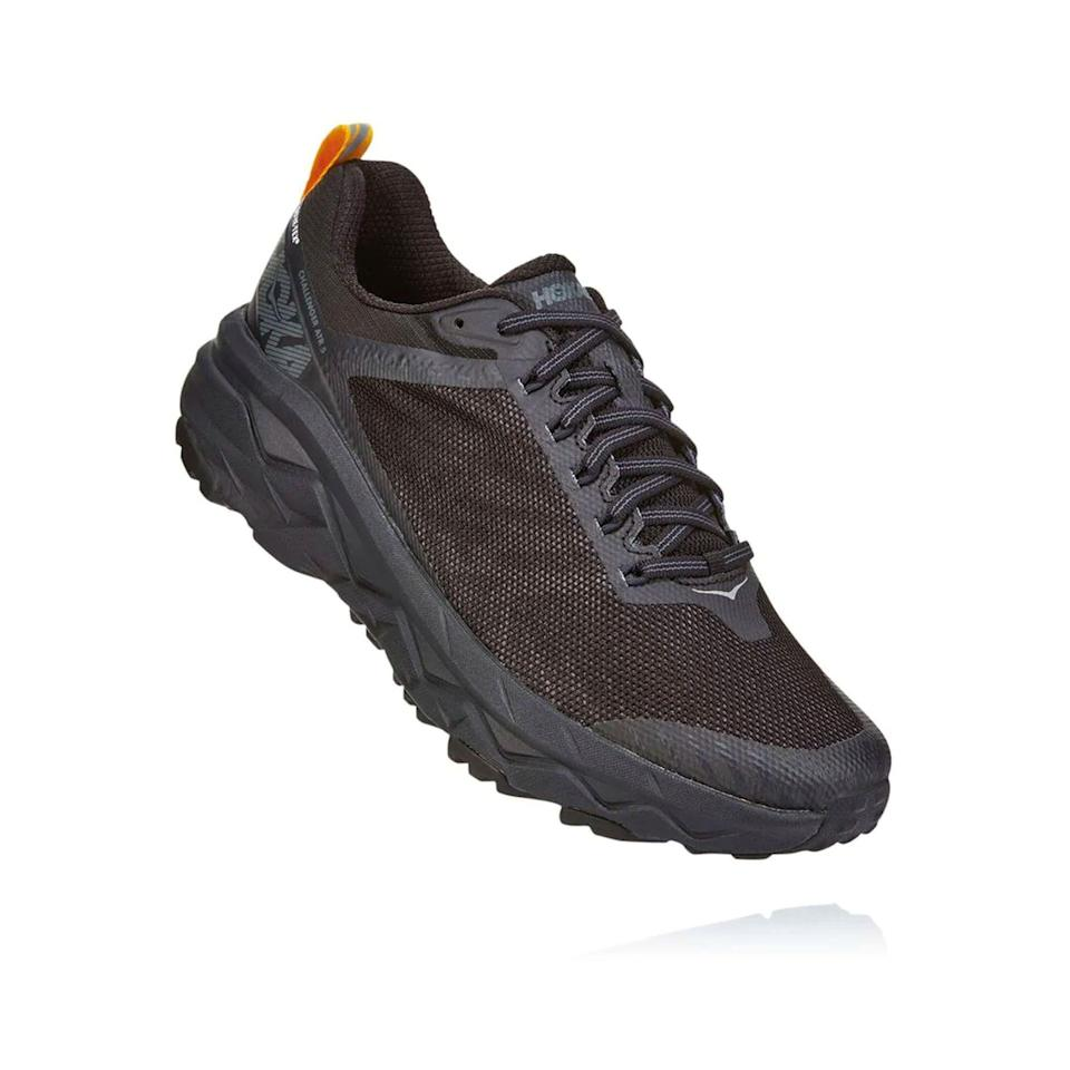 """<p><a href=""""https://go.redirectingat.com?id=74968X1596630&url=https%3A%2F%2Fwww.hokaoneone.com%2Fsale%2Fchallenger-atr-5-gore-tex%2F1111990.html&sref=https%3A%2F%2Fwww.menshealth.com%2Ftechnology-gear%2Fg36099041%2Fhoka-one-one-2021-sale%2F"""" rel=""""nofollow noopener"""" target=""""_blank"""" data-ylk=""""slk:BUY IT HERE"""" class=""""link rapid-noclick-resp"""">BUY IT HERE</a></p><div class=""""product-slide-price""""><strong><del>$140</del> <br>$114.99</strong></div><p>Winter is over, but go ahead and stock up for next year's mud and slush seasons with this Gore-Tex version of the versatile Challenger. The waterproof bootie keeps the muck outside where it belongs. </p>"""