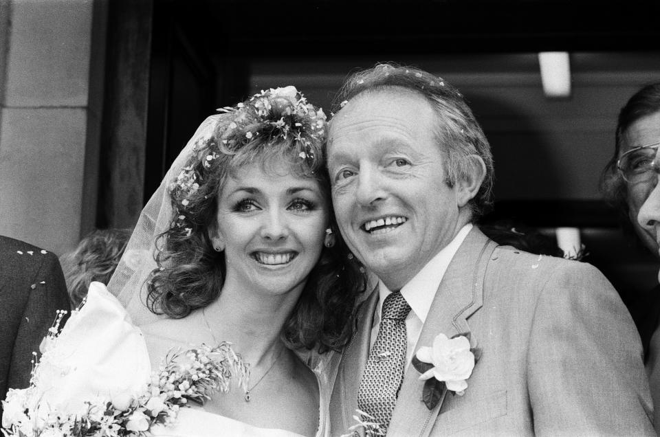 The wedding of Paul Daniels and Debbie McGee in Buckinghamshire. 2nd April 1988. (Photo by Paul Draper/Mirrorpix/Getty Images)