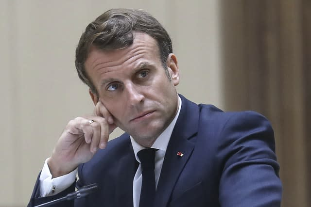 French President Emmanuel Macron cannot face charges while in power (Ludovic Marin, Pool via AP)